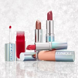 Clinique plenty of pop 5 pc lipstick lip gloss set